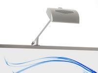 LED šviestuvas ant stendo konstrukcijos.