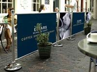 Lauko kavinių ir restoranų atitvėrimai.