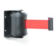 Metalinė atitvėrimo kasetė su ištraukiama raudonos spalvos juosta.