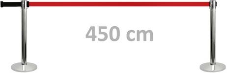 Atitvaras su ypač ilga, net iki 450 cm ištraukiama juosta.