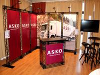 Mobilus surenkamas stendas prezentacijoms - ASKO.