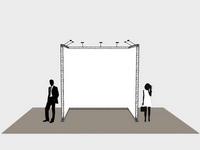 Mobilios konstrukcijos reklamai ir informacijai.