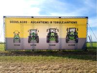 Žemės ūkio tema, foto siena lauke.