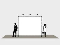 Vidutinio dydžio foto sienelė (3x2 m).