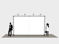 Populiariausia foto sienelė tokiems renginiams: parodoms, mugėms, prezentacijoms ir konferencijoms.