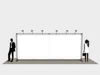 Foto siena konferencijoms su šešiais halogeniniais šviestuvais.