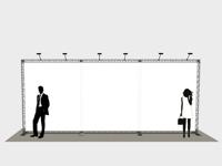 Standartinio parodų aukščio (h-250cm) reklaminės foto sienelės nuoma ir pardavimas.