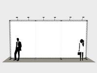 Didelė foto siena skirta 600x300 cm grafiniam plakatui.