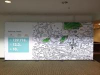 """Renginio """"Ozo parkas"""" foto siena su grafiniu apipavidalinimu ir informacija."""