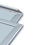 aliuminio rėmai su atveriamais šonais skirti reklamai