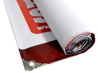 Reklaminis PVC tentas kompaktiškai susivynioja į ruloną, patogu transportuoti ir naudoti