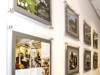 Reklaminiai rėmeliai su grafine spauda ant popieriaus, foto galerija, ekspozicija