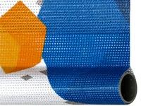 Reklamai skirtas audinys MESH yra lengvai vyniojamas, neplyšta, dažnai naudojamas parodose.