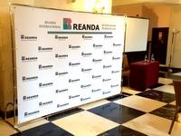 konferencijų sienelė su tentu