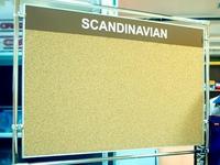 Informacinė skelbimų lenta su kamštine danga