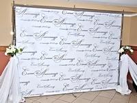 dekoratyvinė foto sienelė vestuvėms